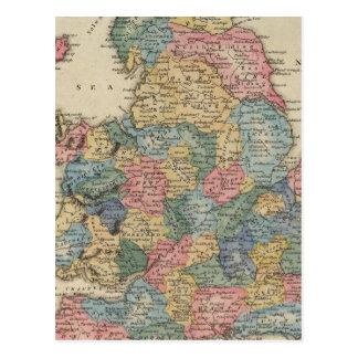 Inglaterra y País de Gales 2 Tarjetas Postales