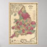 Inglaterra y País de Gales 4 Posters