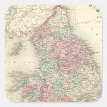 Inglaterra y País de Gales 5 Pegatina Cuadrada