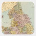 Inglaterra y País de Gales compuestos Pegatinas Cuadradases