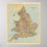 Inglaterra y País de Gales compuestos Poster
