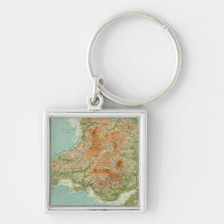 Inglaterra y País de Gales, islas al sudoeste de S Llavero Personalizado