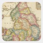 Inglaterra y País de Gales Pegatina Cuadrada