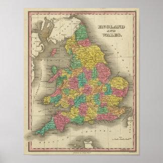 Inglaterra y País de Gales Posters