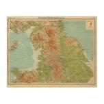 Inglaterra y País de Gales, sección septentrional Cuadro De Madera