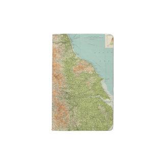 Inglaterra y País de Gales, sección septentrional Funda Para Libreta Y Libreta Pequeña Moleskine