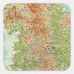 Inglaterra y País de Gales, sección septentrional Pegatina Cuadrada