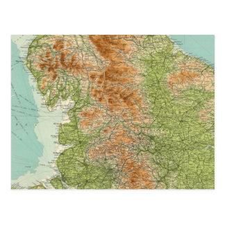 Inglaterra y País de Gales, sección septentrional Tarjeta Postal