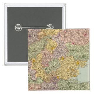 Inglaterra y País de Gales surorientales Pin Cuadrado