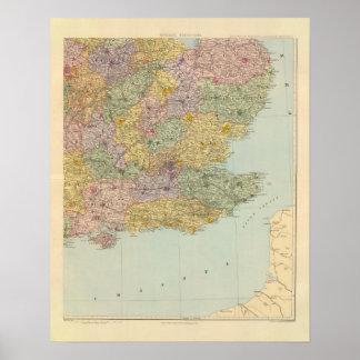 Inglaterra y País de Gales surorientales Póster