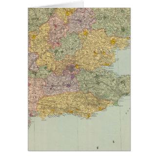 Inglaterra y País de Gales surorientales Tarjeta De Felicitación