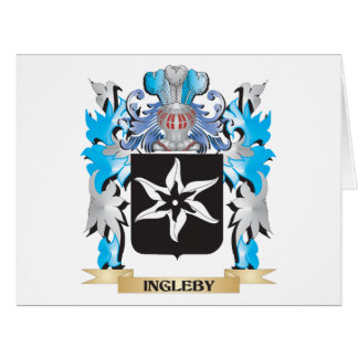 Ingleby Coat of Arms - Family Crest Large Greeting Card