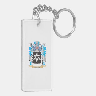 Ingleby Coat of Arms - Family Crest Double-Sided Rectangular Acrylic Keychain