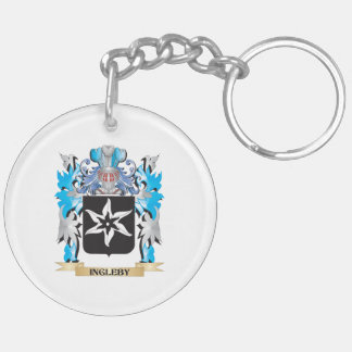 Ingleby Coat of Arms - Family Crest Double-Sided Round Acrylic Keychain