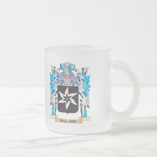 Ingleby Coat of Arms - Family Crest 10 Oz Frosted Glass Coffee Mug