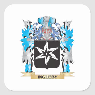Ingleby Coat of Arms - Family Crest Square Sticker