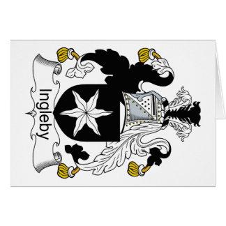 Ingleby Family Crest Greeting Card
