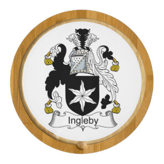 Ingleby Family Crest Round Cheese Board