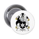 Ingleby Family Crest Pinback Buttons