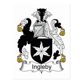 Ingleby Family Crest Postcard