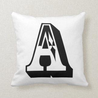 """Inglés ABC de la letra """"A"""" del alfabeto Cojines"""