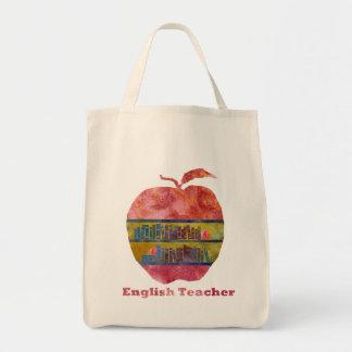 Inglés Apple Bolsas Lienzo