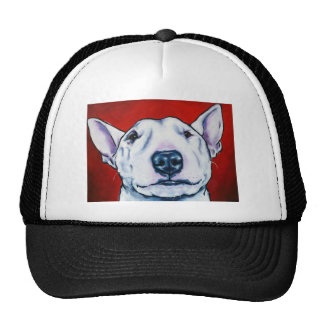 Inglés blanco bull terrier gorro de camionero