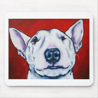 Inglés blanco bull terrier alfombrilla de raton