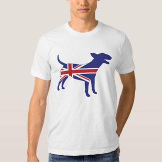 Inglés bull terrier/camiseta de Union Jack Poleras