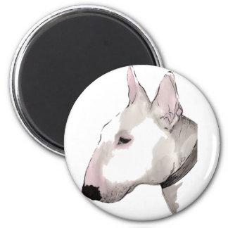 Inglés bull terrier imán para frigorifico