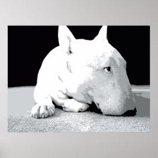 Inglés bull terrier, impresión del arte pop impresiones