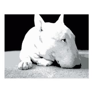 Inglés bull terrier, impresión del arte pop tarjetas postales