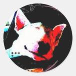 inglés bull terrier pegatina redonda
