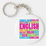 Inglés colorido llavero