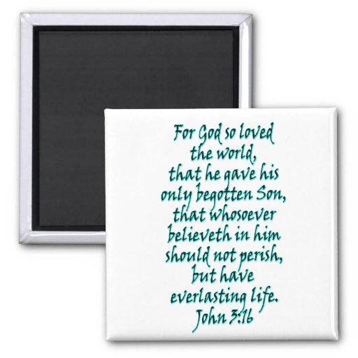 Inglés del 3:16 de Juan Imán Para Frigorífico