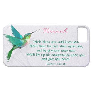 Inglés del colibrí de la bendición de Aaronic iPhone 5 Carcasas