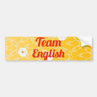 Inglés del equipo pegatina de parachoque