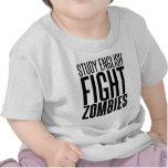 Inglés del estudio, zombis de la lucha camisetas
