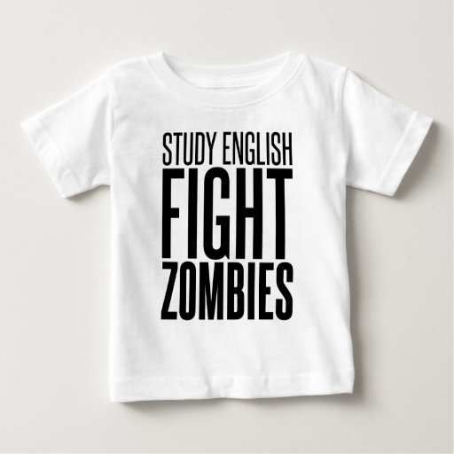 Inglés del estudio, zombis de la lucha playera de bebé