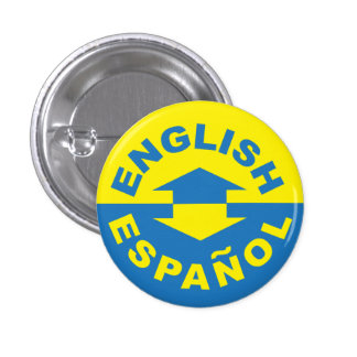 Inglés Español - hablo español Pin Redondo De 1 Pulgada