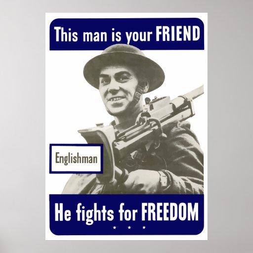 Inglés -- Este hombre es su amigo Poster