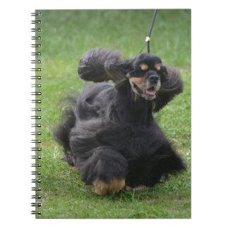 Inglés lindo cocker spaniel cuadernos