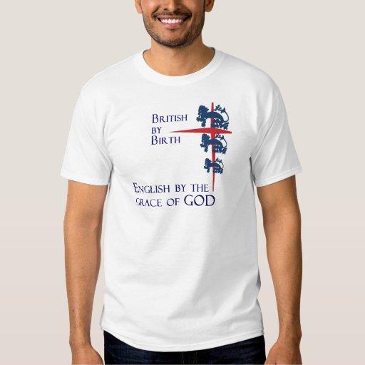Inglés por la gracia de la camiseta del fanático camisas