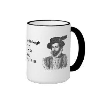 Inglés:  Sir Walter Raleigh Taza De Dos Colores