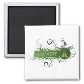 Inglés verde de Namaste Imán Cuadrado