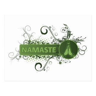 Inglés verde de Namaste Tarjetas Postales