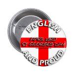 Inglés y orgulloso - insignia pin