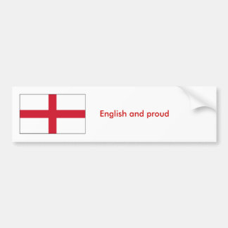 Inglés y orgulloso pegatina de parachoque