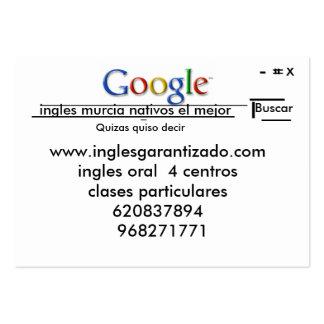 inglesgarantizado Murcia de la academia Plantillas De Tarjeta De Negocio