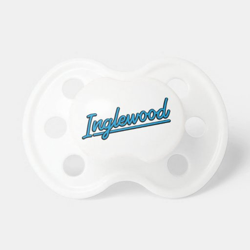 Inglewood in cyan baby pacifier